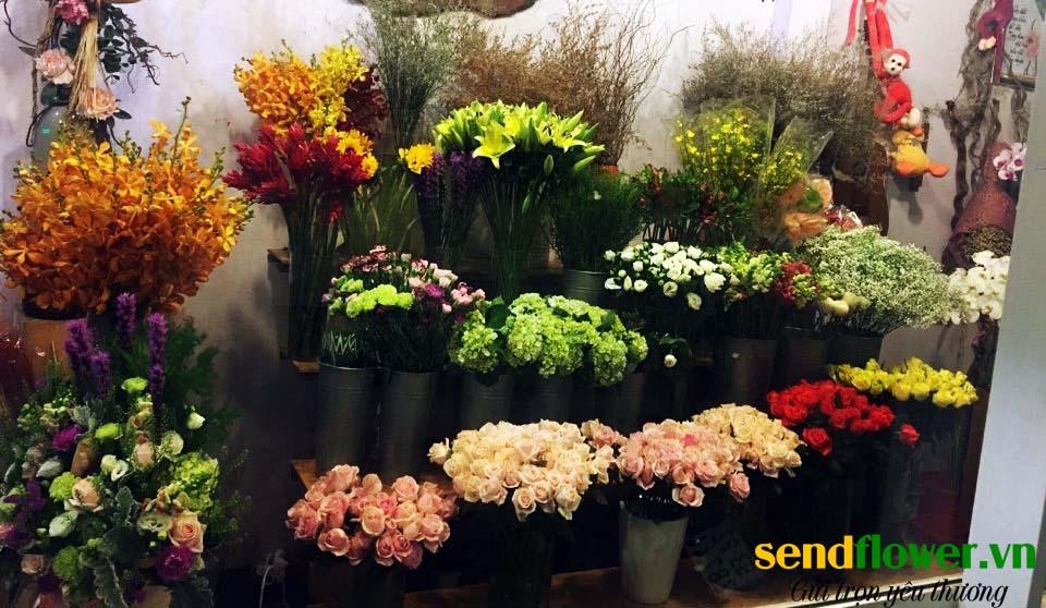Hoa được trưng tại shop hoa tươi Quận 3 và chăm sóc cẩn thận
